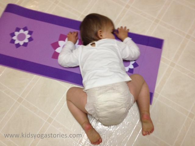 Toddler in Child's Pose | Kids Yoga Stories