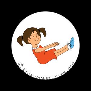 boat Pose kids yoga stories