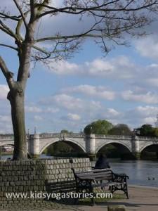 british bridge and ducks