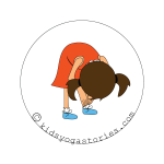 standing forward Bend kids yoga stories