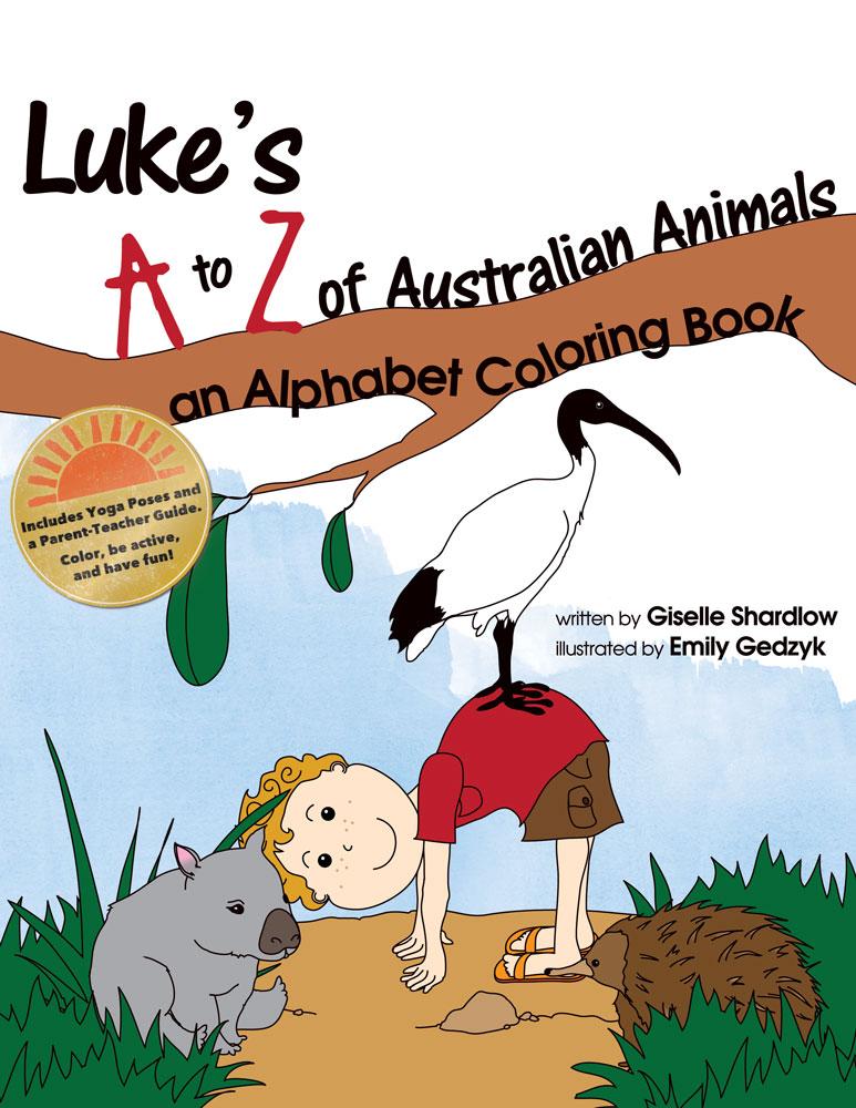 Lukes A To Z Of Australian Animals Alpabet Coloring Book Image