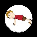 plank Pose kids yoga stories