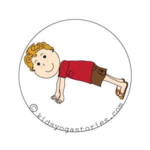 plank Pose kids yoga stories