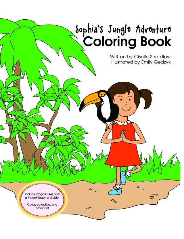 Sophia's Jungle Adventure Coloring Book Image