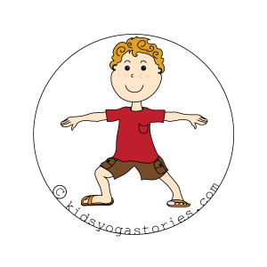 warrior 2 pose kids yoga stories