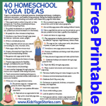 How to Integrate Yoga in your Home School (Printable Poster)
