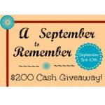 A September to Remember Giveaway