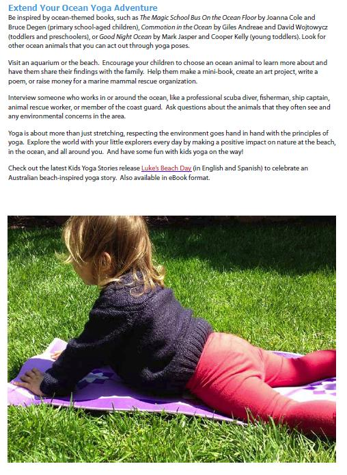 extend your ocean yoga adventure by kids yoga stories