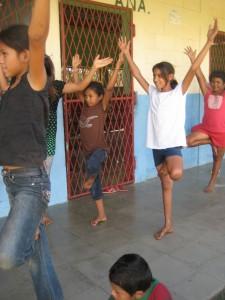 nicaragua kids yoga tree pose