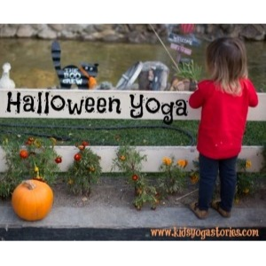 Halloween yoga sequence to get your children moving and having fun this season | Kids Yoga Stories