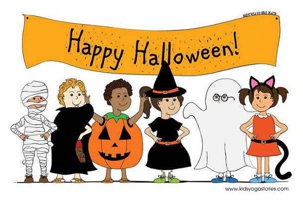 Halloween Stories halloween scary story and drawing contest Downloadable Kids Yoga Stories Halloween Coloring Page