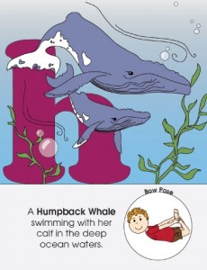 Bow Pose found in The ABC's of Australian Animals by Kids Yoga Stories