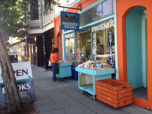 neighborhood book shop in San Francisco