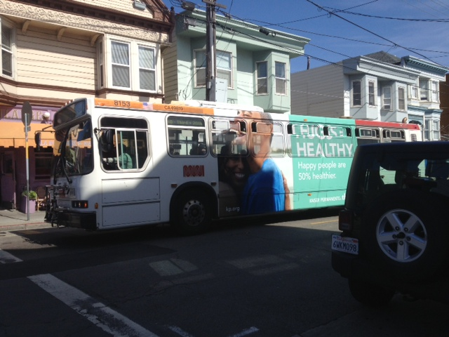neighborhood bus in San Francisco