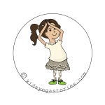 Crescent Moon Pose on Kids Yoga Stories
