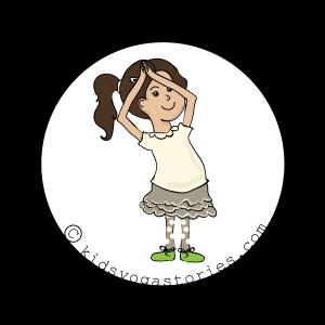 Crescent Moon Pose on Kids Yoga Stories