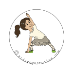 Extended Side Angle Pose on Kids Yoga Stories