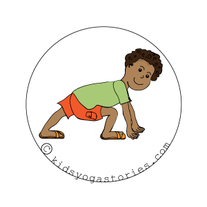 Lunge Pose on Kids Yoga Stories
