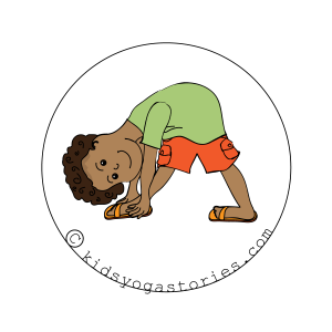 Triangle Forward Bend yoga pose for kids