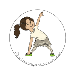 Triangle Pose Kids Yoga
