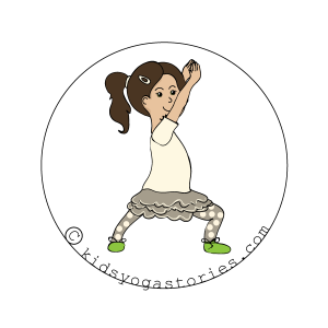 Warrior 1 Pose on Kids Yoga Stories
