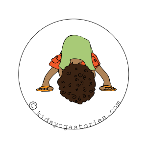 Wide-Legged Forward Bend for Kids