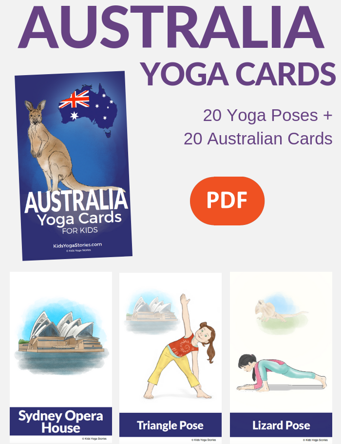 yoga cards australia, australian yoga poses for kids | Kids Yoga Stories