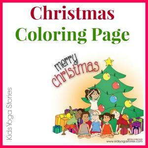 Christmas Coloring Page on Kids Yoga Stories