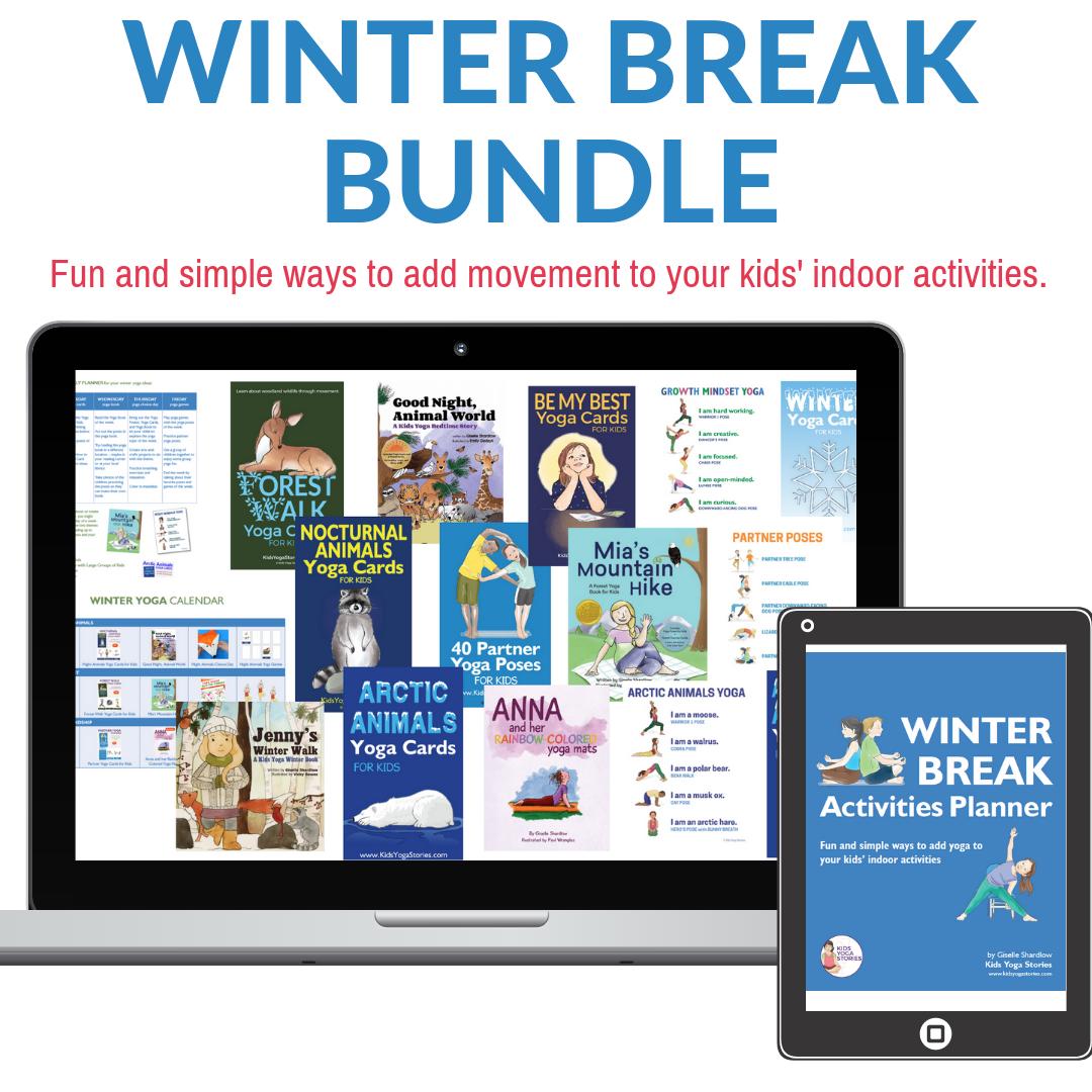 winter break activities bundle | Kids Yoga Stories