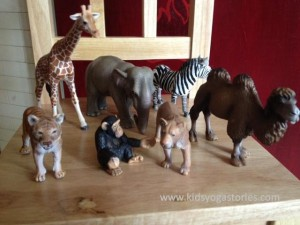 African animal figurines