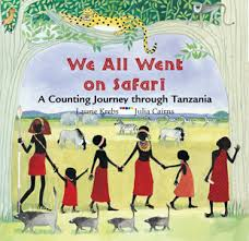 African animals book titled We All Went on Safari by Laurie Krebs