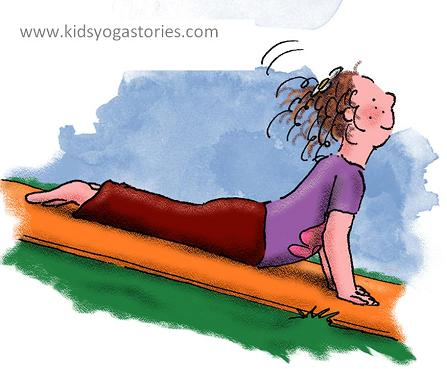 Anna in Cobra Pose, book by Kids Yoga Stories