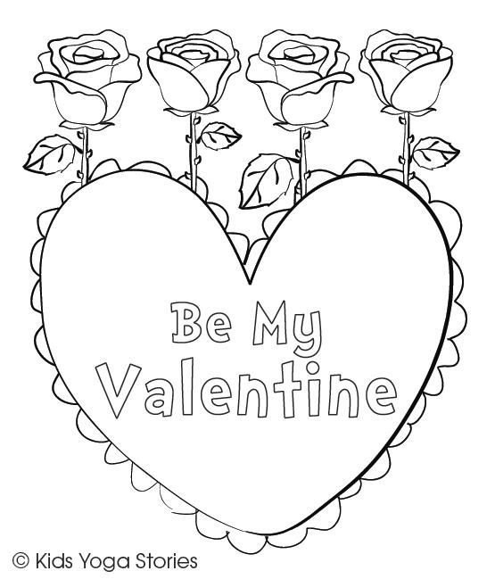 Be My Valentine Card by Kids Yoga Stories
