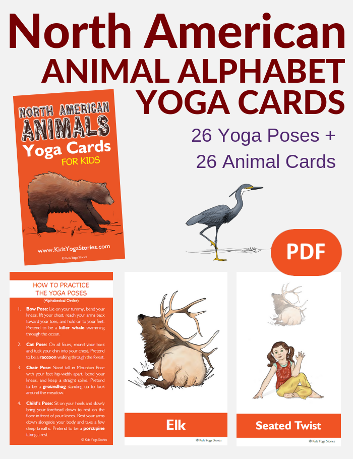 Animal Alphabet cards for kids | Kids Yoga Stories