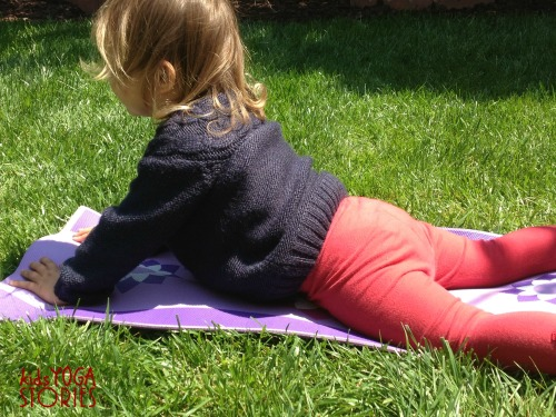 Cobra Pose in the Garden on Kids Yoga Stories