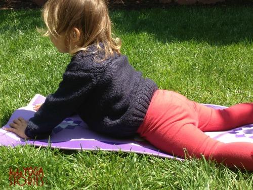 Cobra Pose in the Garden on Kids Yoga Stories
