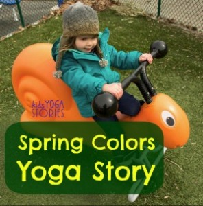 Act out a spring yoga story by Kids Yoga Stories