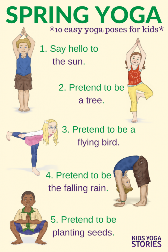 Yoga For Spring Printable Poster Kids Yoga Stories Yoga Resources For Kids