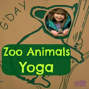 5 Zoo Yoga Poses For Kids Printable Poster Kids Yoga Stories Yoga Resources For Kids