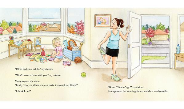 Healthy fitness kids book with mom and daughter titled My Favorite Run