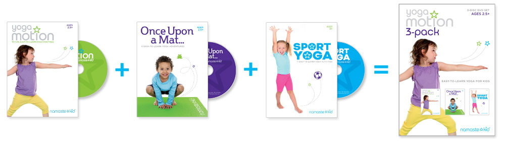 Yoga Motion 3-pack videos for kids by Namaste Kid