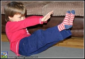 Boat Pose by Crystal's Tiny Treasures's boy