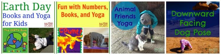 April Yoga Sequences on Kids Yoga Stories
