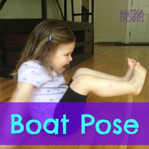 How to do Boat Pose with kids | Kids Yoga Stories