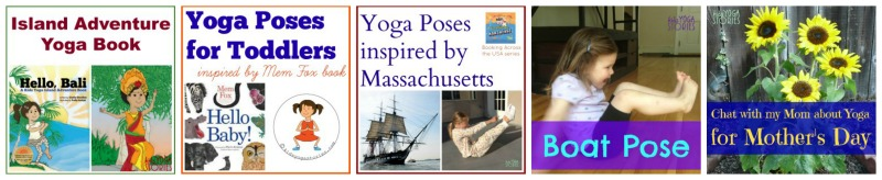 Images from 5 of the posts published in May on Kids Yoga Stories