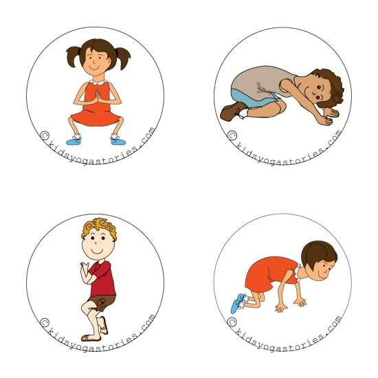 Four yoga poses for kids inspired by a book by Mem Fox