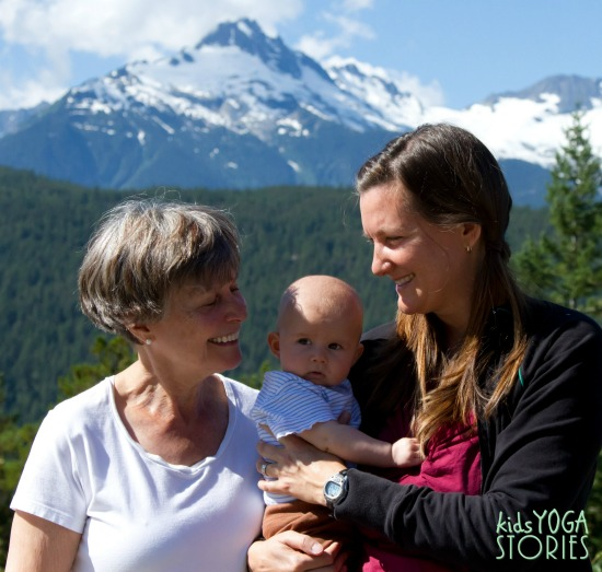 Mother and Daughter picture for Mother's Day on Kids Yoga Stories