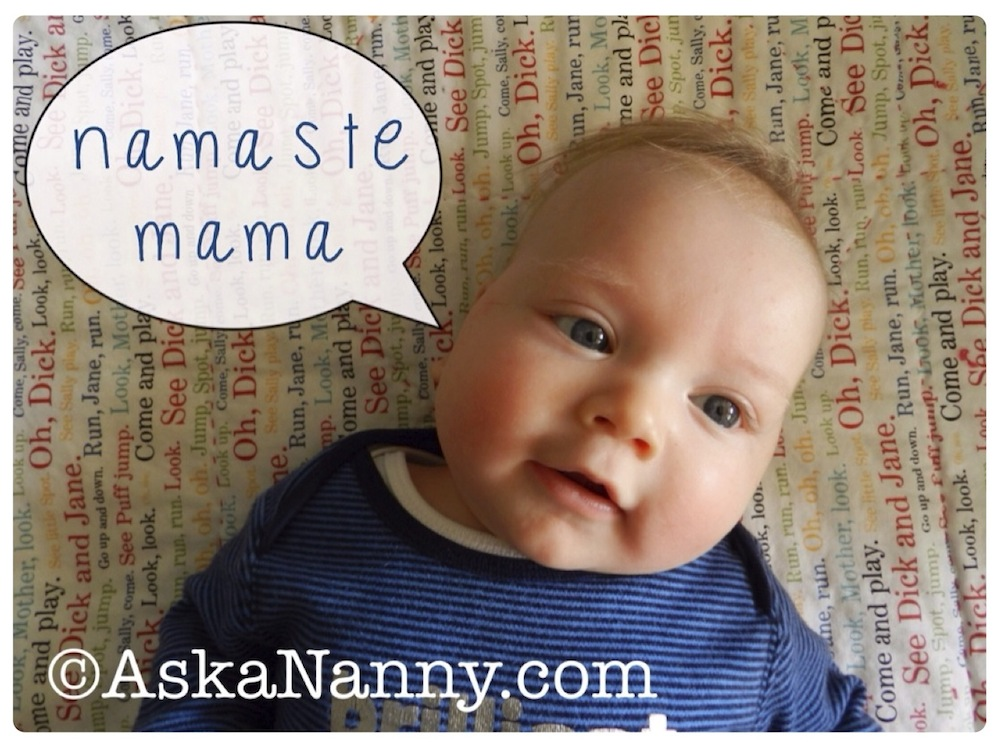 Baby saying Namaste Mama from AskaNanny.com