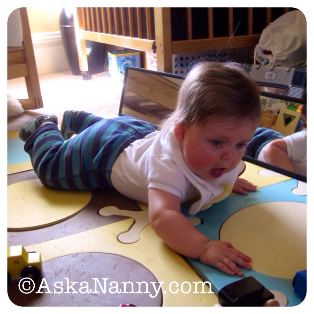 Baby Yoga: Cobra Pose from AskaNanny.com