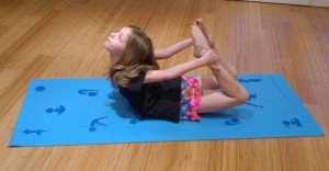 Bow Pose for Kids by Ahhsana Yoga